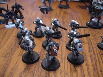 Tau Firewarrior Squad by jsdragon56