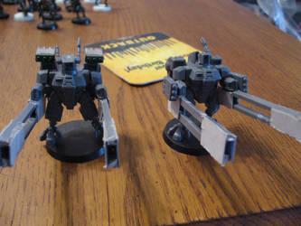 Tau Broadside Battlesuit Team by jsdragon56