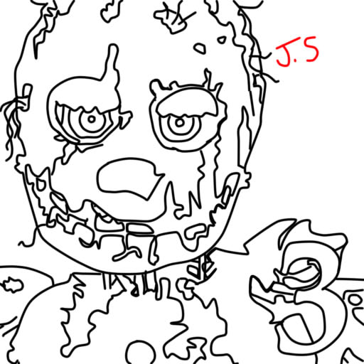 fnaf 3 coloring pages - photo#1