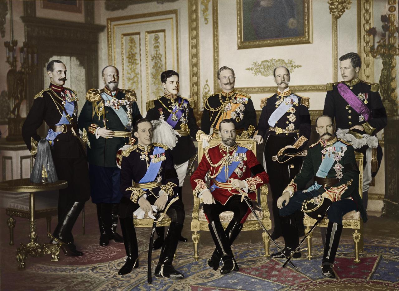 nine monarchs 1910 coloured by kommit on deviantart