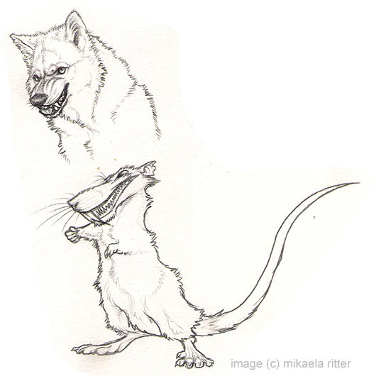 evil animals drawings