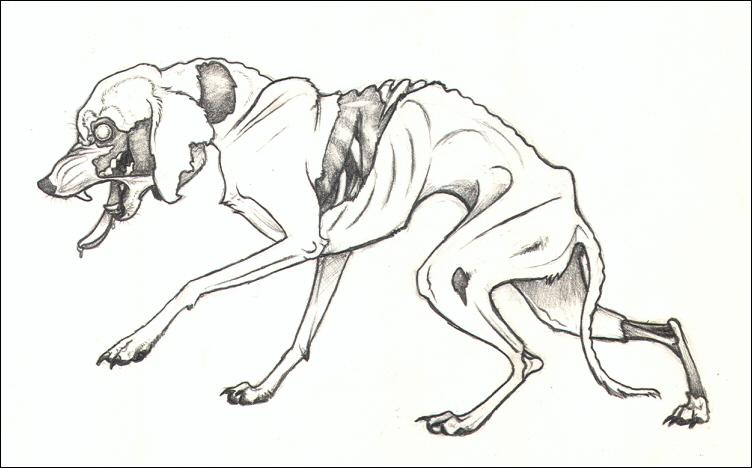 Zombie Dog by nikkiburr