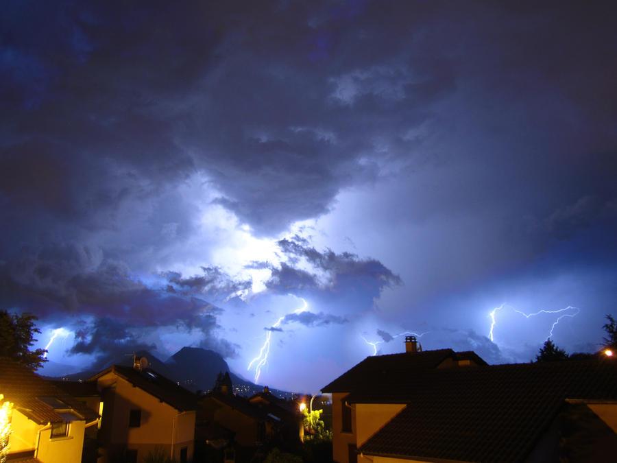 Violent Storm Over Grenoble
