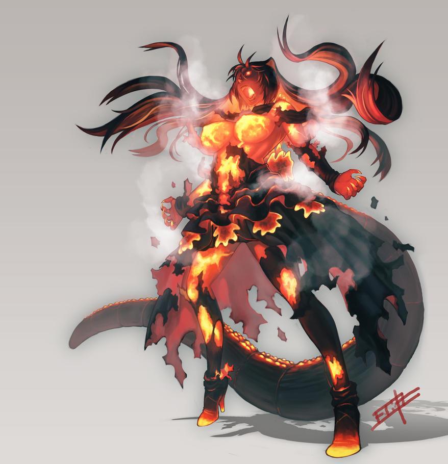 Burning Godzilla by gamerag3 on DeviantArt