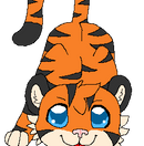 Chibi Tiger ish stalking you by Sugarfoxxy