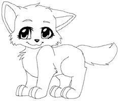 Free Kitten Line Art by deliclous