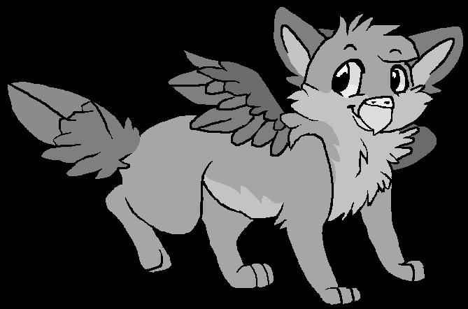 Griffon fox base by Sugarfoxxy