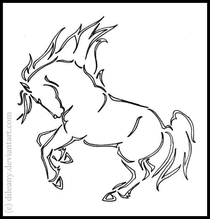 Kleurplaat Paardhoofd Horse Tattoo By Dileany On Deviantart