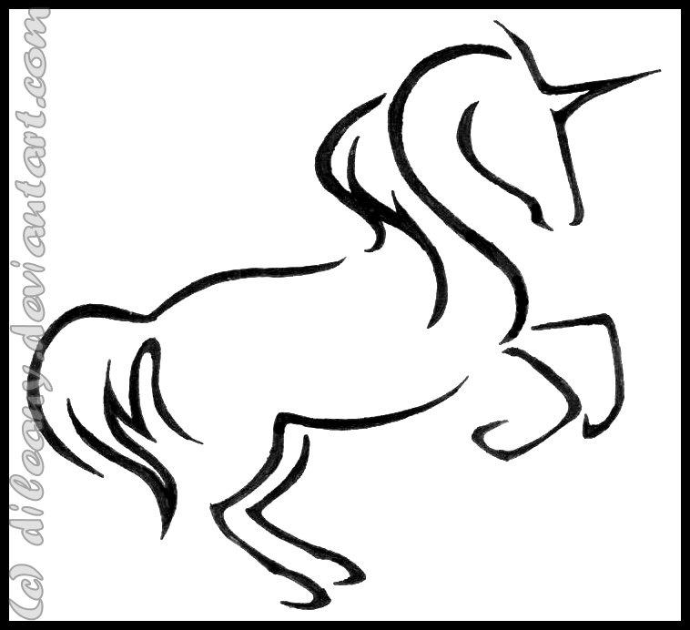 Small simple unicorn pictures to pin on pinterest pinsdaddy for Simple unicorn tattoo