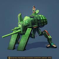 Tank Big  beetle by Bahryi