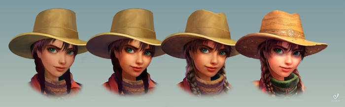 Cowboy face progress