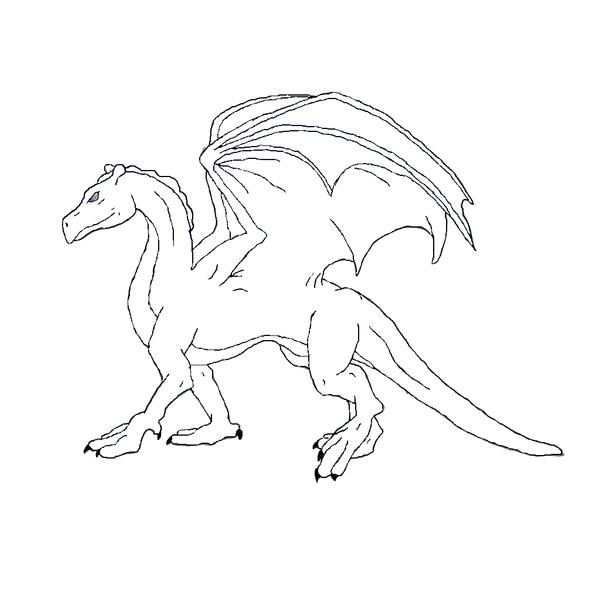 Line Drawing Dragon : Pern dragon line art by cleoni