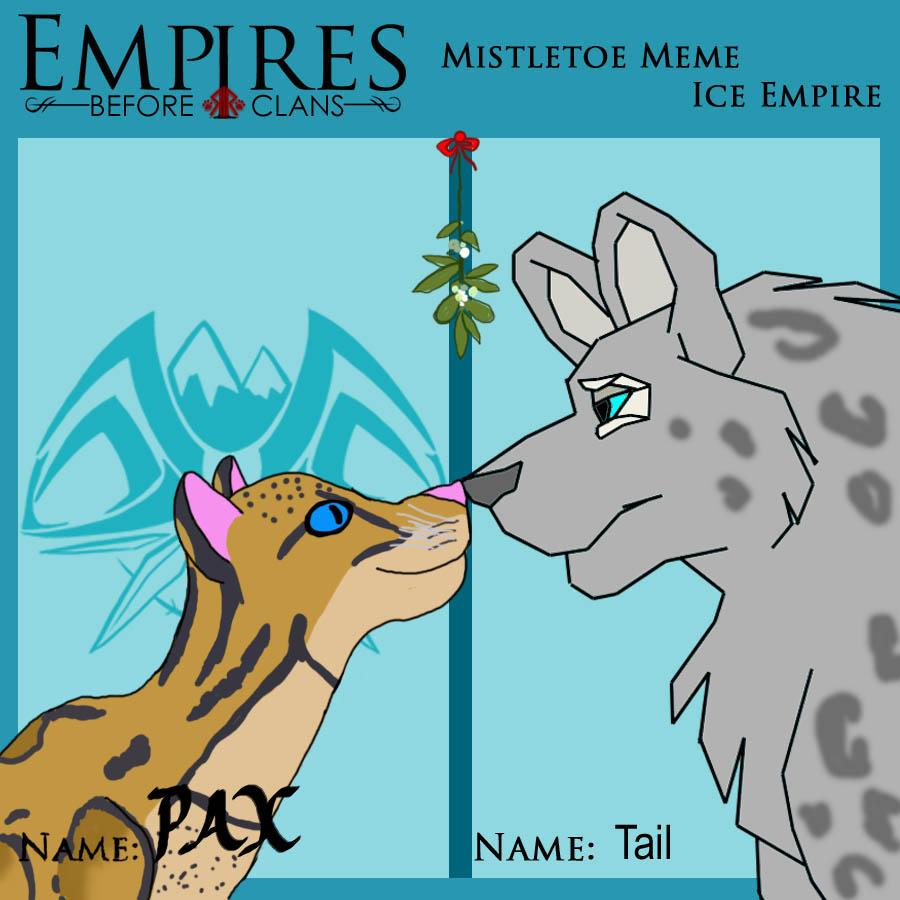 EBC Mistletoe Meme: Tail and Pax by HarmonyM