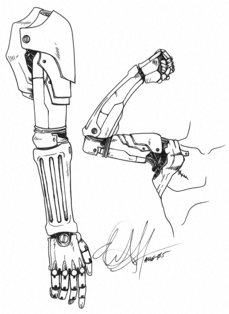 diagram of a robotic arm