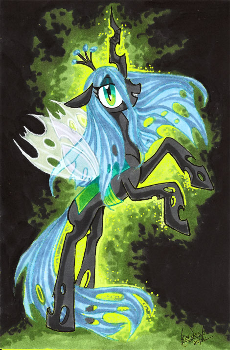Queen Chrysalis by skardash