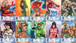 DC New 52 Sketch Cards: 21-30