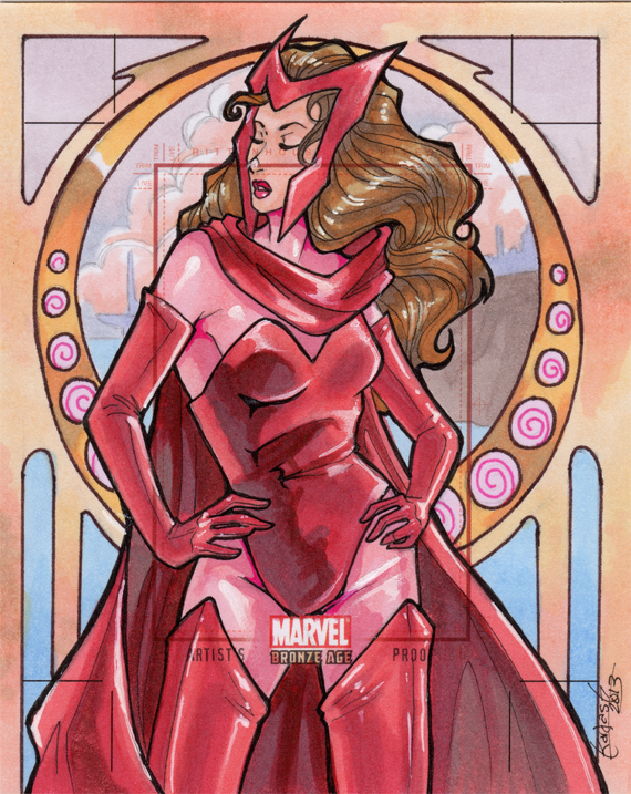 Artist's Proof: Scarlet Witch by skardash