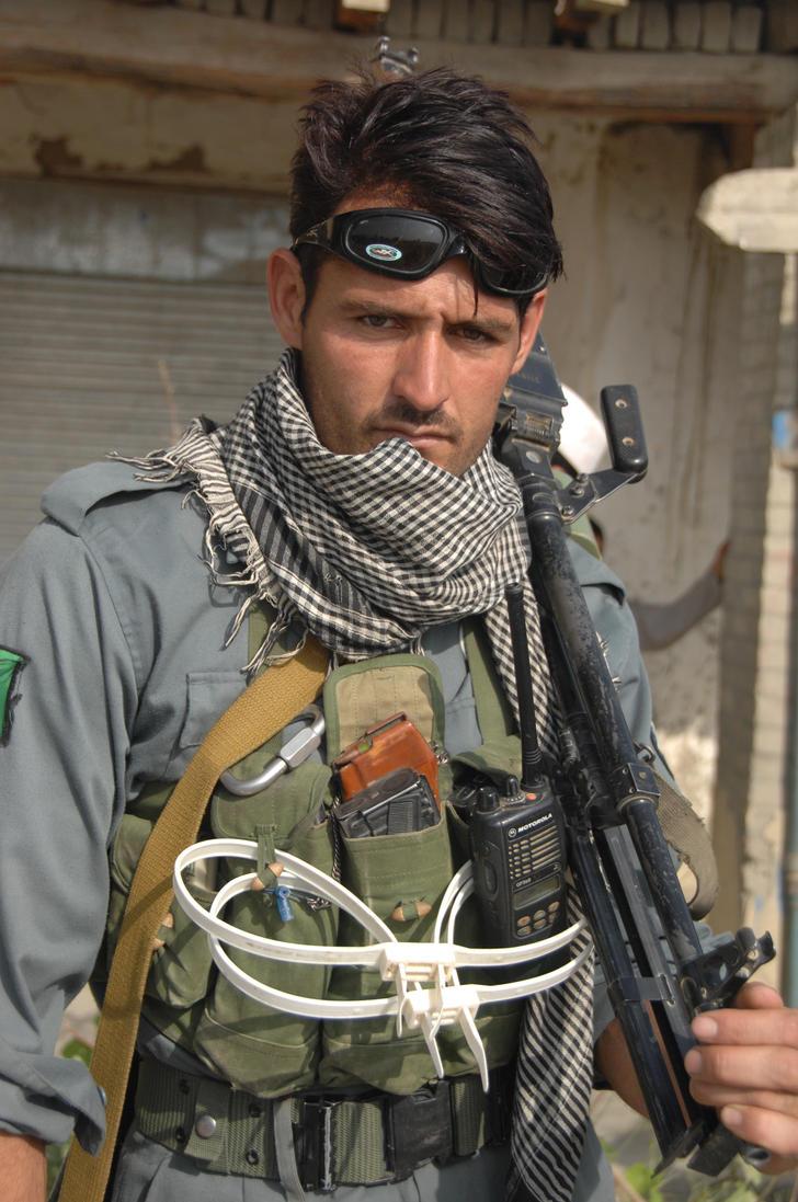 Afghanistan National Policeman by MilitaryPhotos
