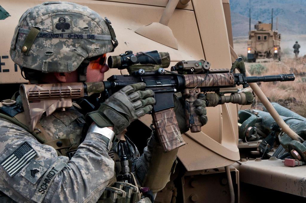 Providing Cover by MilitaryPhotos