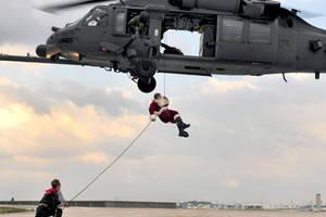 Santa Claus Rappels by MilitaryPhotos