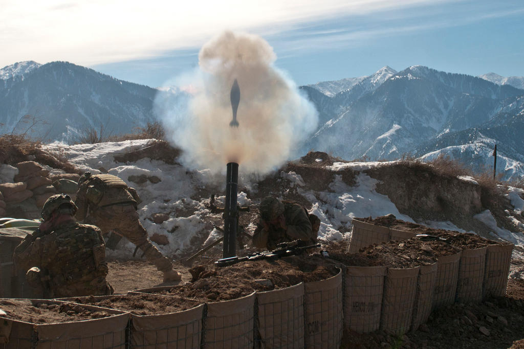 120mm Mortar Round by MilitaryPhotos