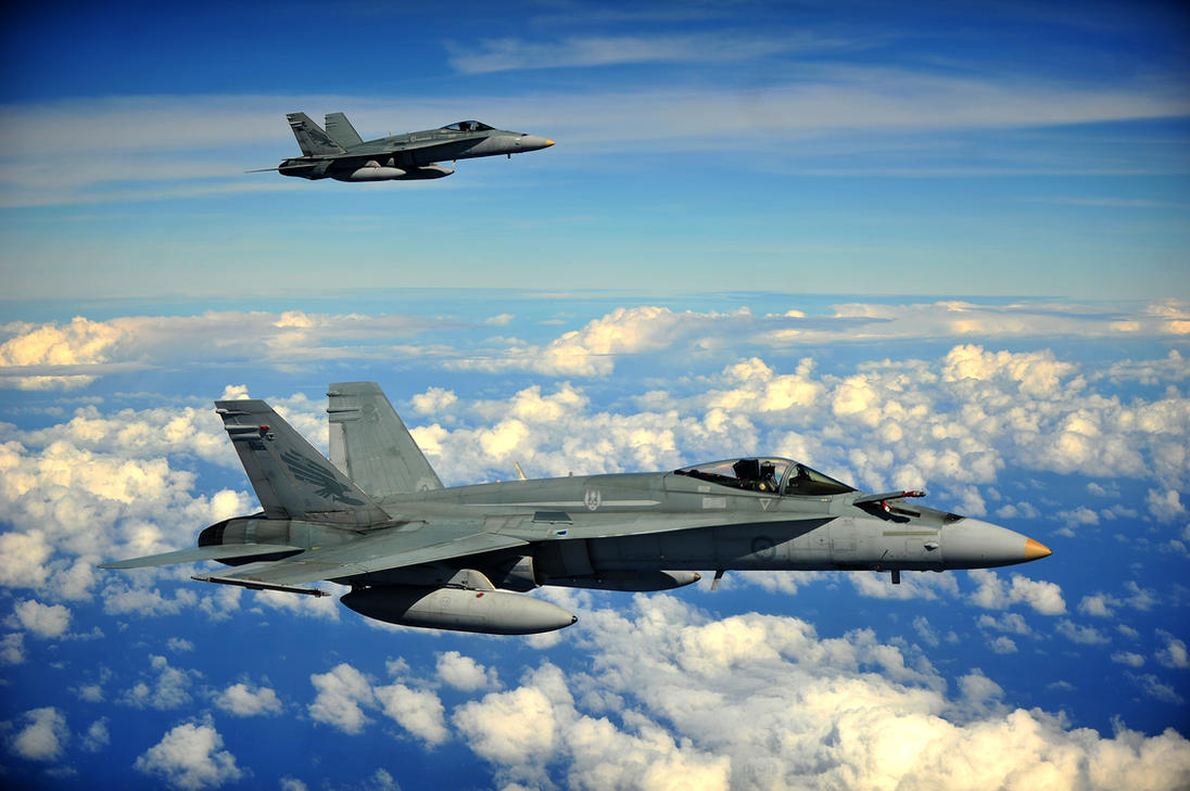 Royal Australian Air Force F/A-18 Hornets by MilitaryPhotos