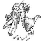Nora hearts Draco