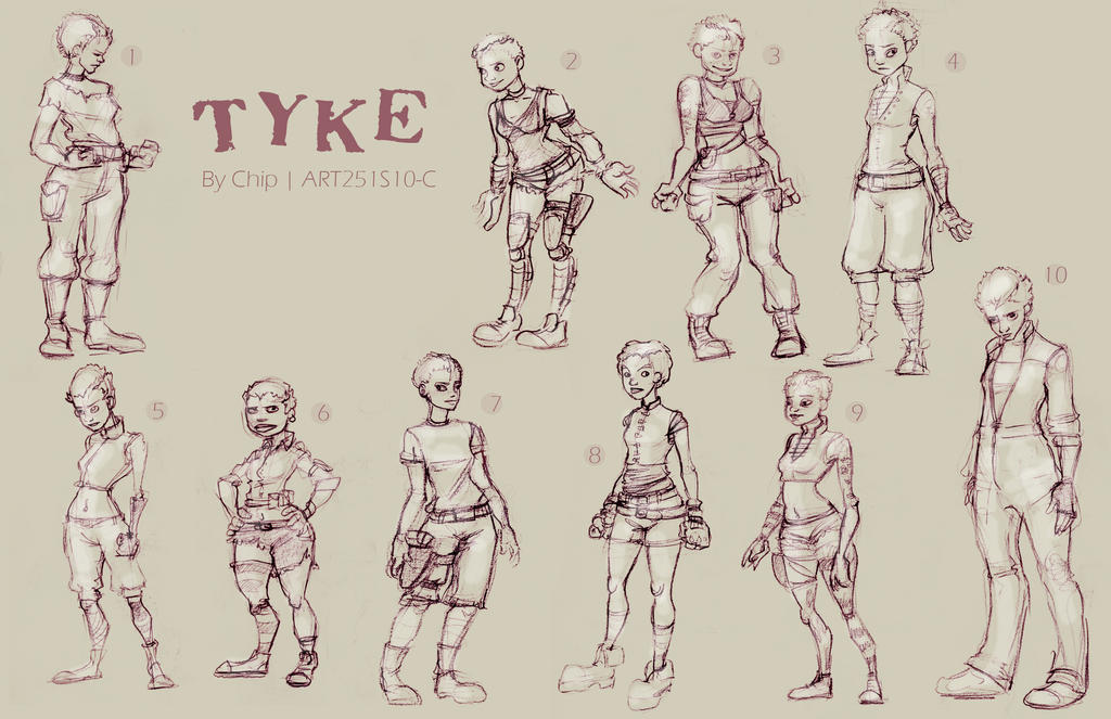 Post-Apoc Character Designs