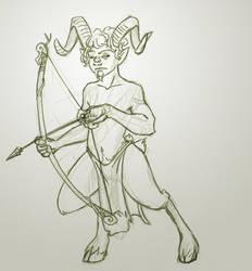 Satyr Sketch by Chiparoo