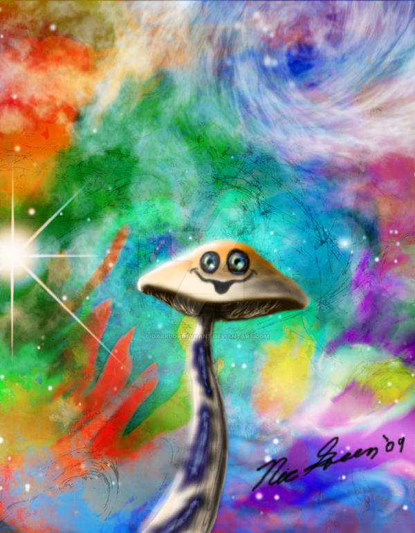 Cosmic Shroom of Happiness by DarkLordTyrant