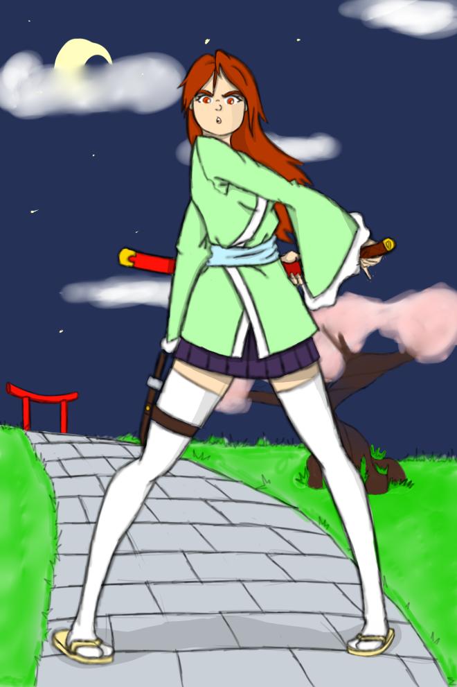 Samurai girl of Edo by boa91