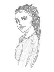 Braided woman sketch  by boa91