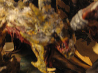 close up of dragon face