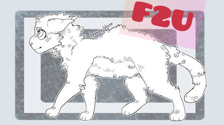 F2U | Free to use cat lineart // adopt base | PSD by Astrialeaves