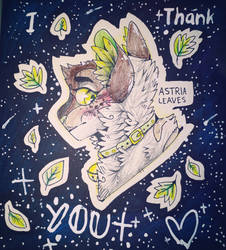 I thank you - Day 2 of Inktober by Astrialeaves