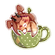 Pupp in a Mug (1) Finished YCH by PixeledPaws