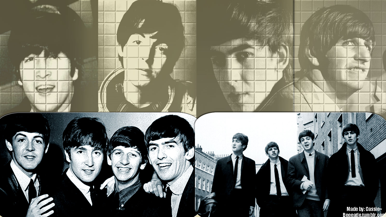 Beatles Wallpaper Black And White