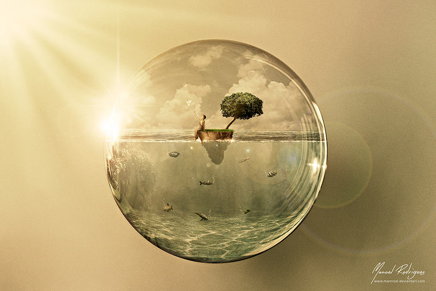 Caught in the water bubble by mannoel