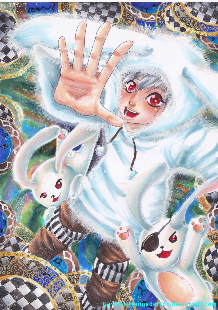 White Rabbit by littlemangademon