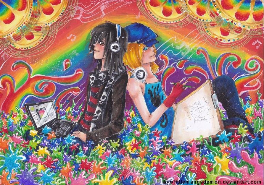Rainbow Ranch by littlemangademon