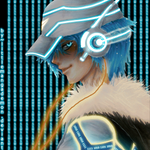 Digital Boy Blue by littlemangademon