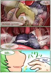 Yuuka x Marisa vore comic 4 by Hughoftheskies