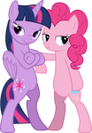 [Vector] Twilight Sparkle and Pinkie Pie