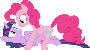 [Vector] Twilight Sparkle and Pinkie Pie #2