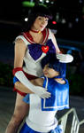 Fire and Water - Sailor Mars and Mercury Cosplay