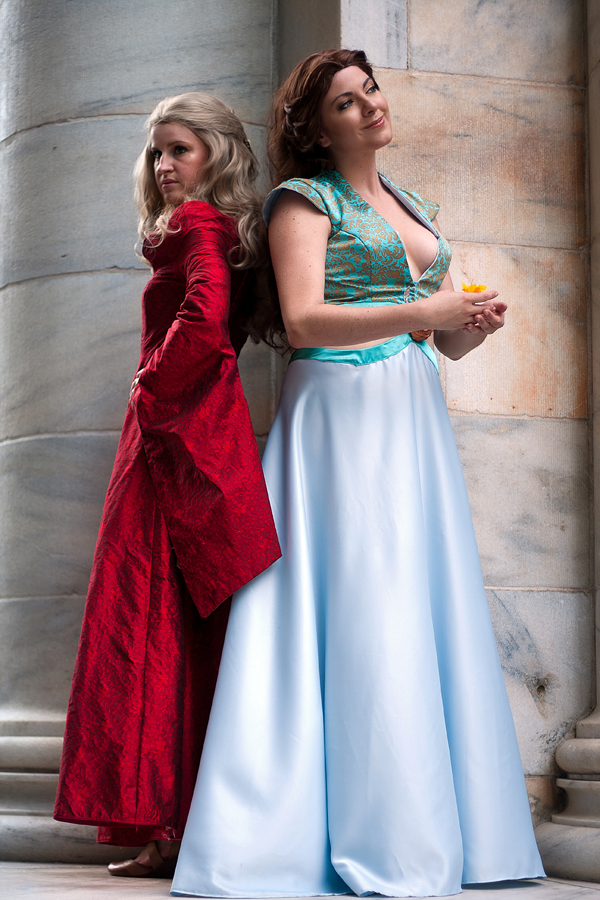 The Lion and the Rose - Margaery Tyrell and Cersei by Kapalaka