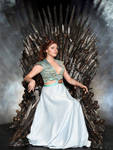 Margaery Tyrell sits on the iron throne