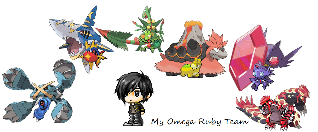 pokemon Omega Ruby team by JamesTheFoxAble1 on DeviantArt