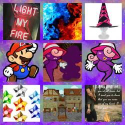 (Paper) Mario/Vivian aesthetic by Inte1eon