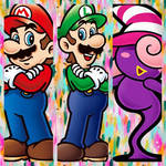 Team Mario collage by Inte1eon
